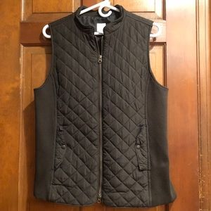 J. Jill quilted vest - Brown- Size Medium